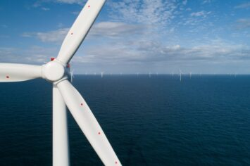 Photo by Ørsted. Hornsea One, currently the world's largest offshore wind farm.